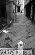 Passing figure in Venetian Calle