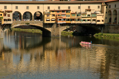 Reflections in Rio Arno, Florence
