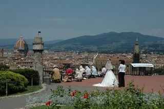 Wedding, Piazzale Michelangelo, Florence